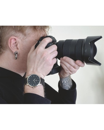 Black classic watch 45mm unisex