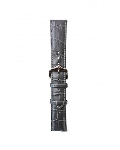 grey genuine leather 22 mm strap