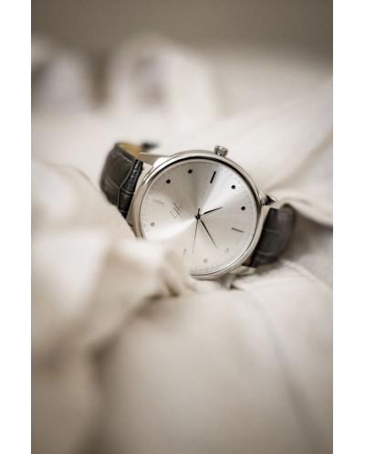 Ačiū linijos kvarcinis laikrodis - sidabro spalva