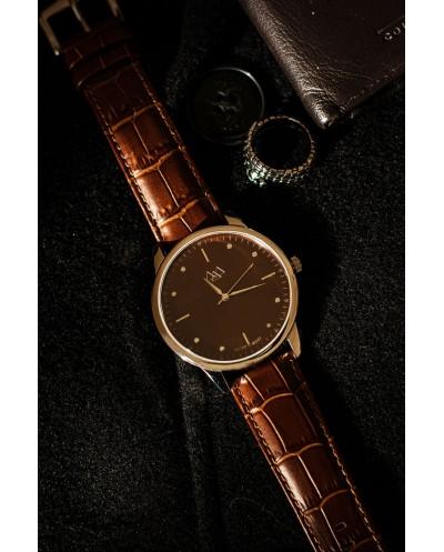 Coffee brown watch unisex