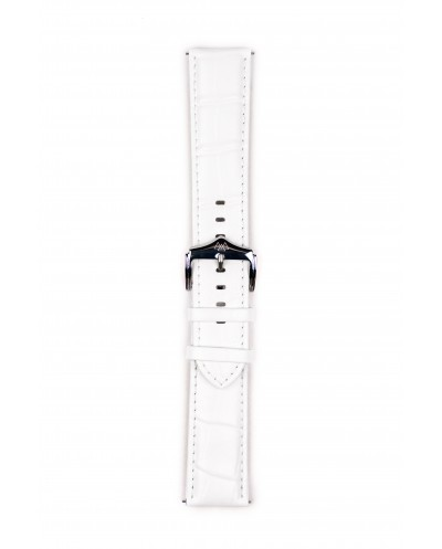 White leather watch strap