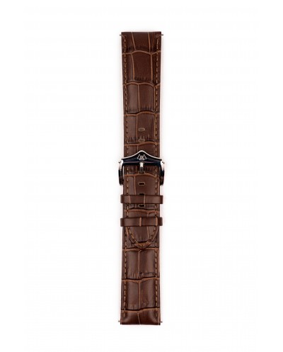 Brown genuine leather watch strap